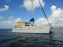 Robertson & Caine Leopard 38 : At anchor in Martinique